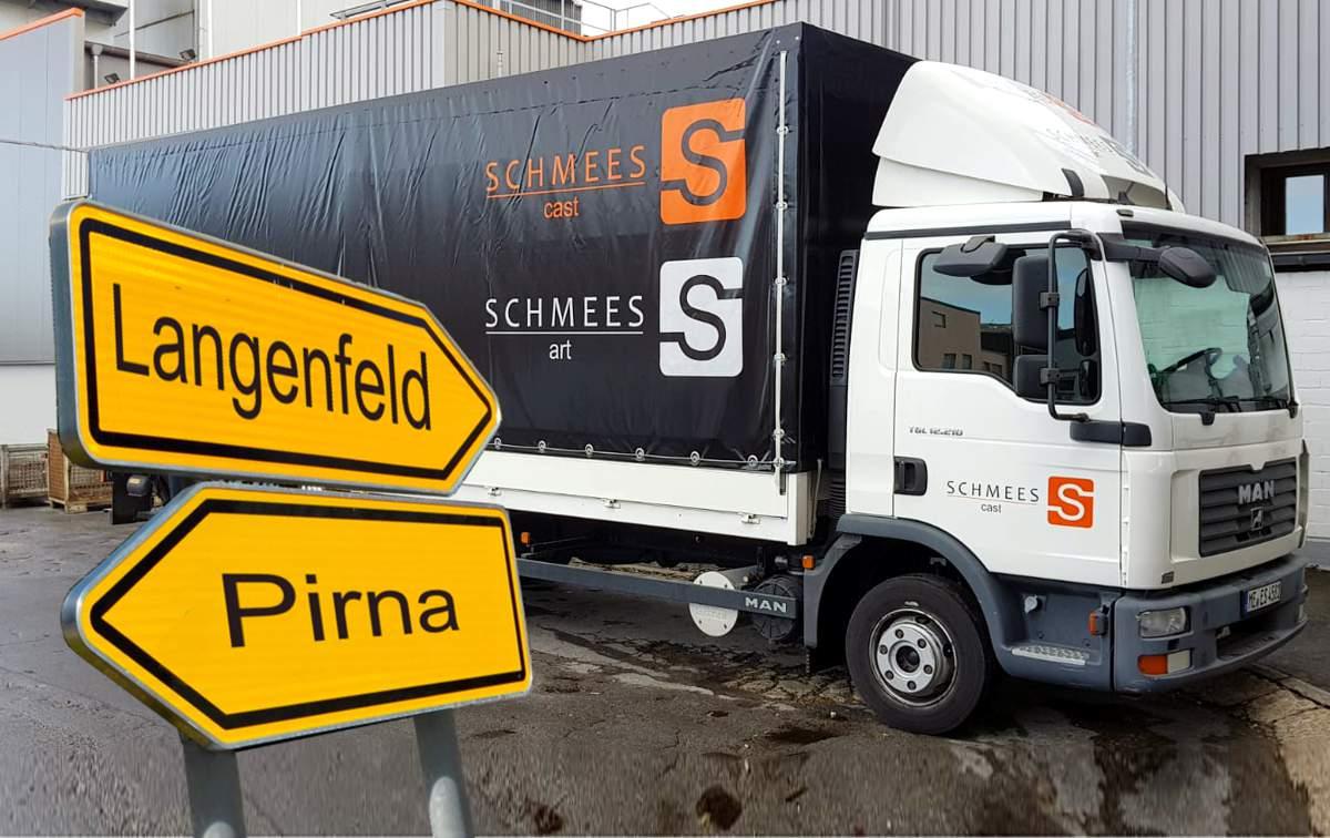 LKW zwischen Langenfeld und Pirna