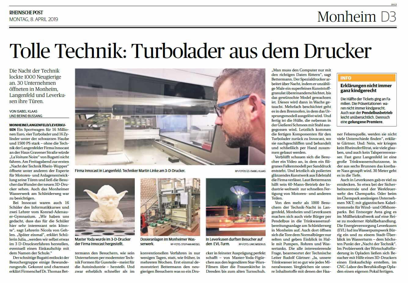 Pressebericht Nacht der Technik 2019