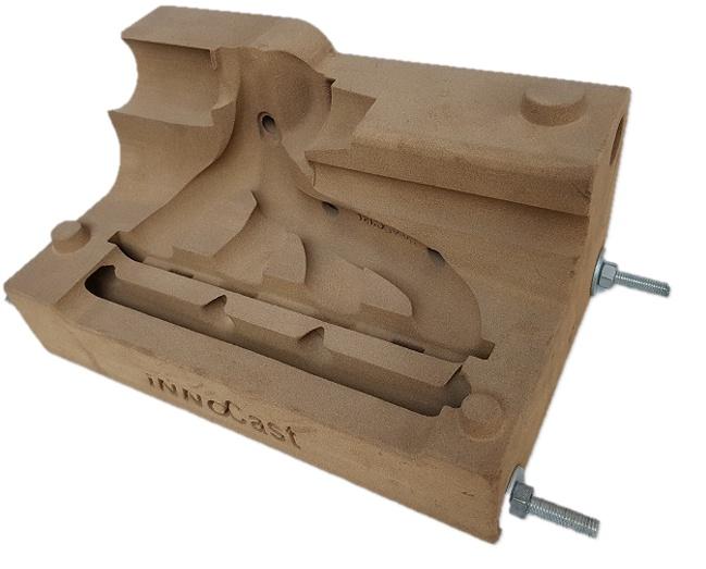 3D-gedruckte Sandgussform